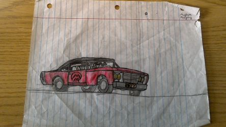 Work Desk: Mayhem Murphys Muscle car by Alexinator5000
