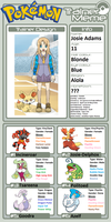 Trainer Profile: Josie Adams (liamisgreat) by WillDynamo55