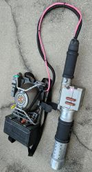 Ghostbusters 2016 reboot Proton Pack repaint prop by firebladecomics