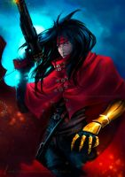Vincent Valentine FFVII by DragonsTrace