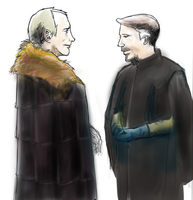 Drawing Petyr Baelish and Roose Bolton by frank2046
