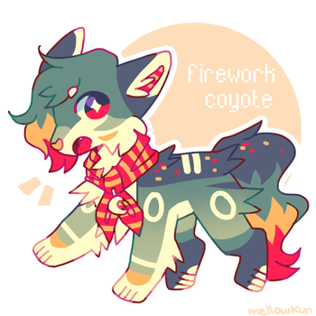 + firework coyote (adopt auction) || closed + by MellowKun
