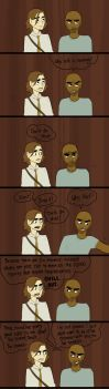 In The Elevator - Reid+Morgan by Muchacha10