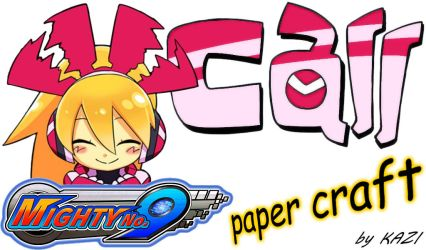 Mighty No. 9 Call paper-craft GUIDE by K4Z1