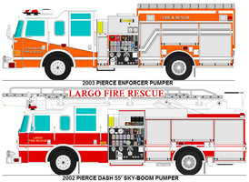 Clearwater and Largo Fire rescue trucks by MisterPSYCHOPATH3001