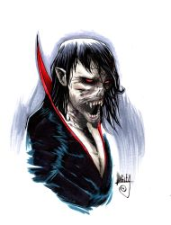 Morbius the Living Vampire bust sketch by Shawn-Langley