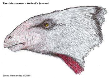 Therizinosaurus head - Primitive War by Christoferson
