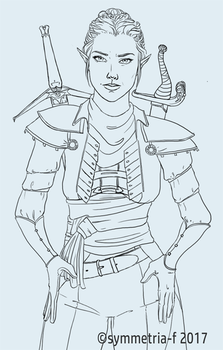 The Inquisitor - lineart by symmetria-f