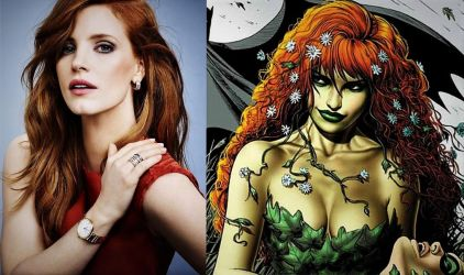 Jessica Chastain as Poison Ivy  by TristanHartup