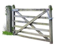 Wooden Farm Gate PNG.. by AledJonesDigitalArt