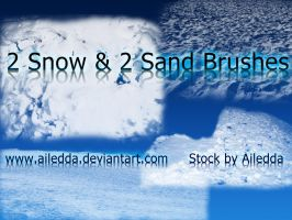 2 snow and 2 sand brushes by Ailedda