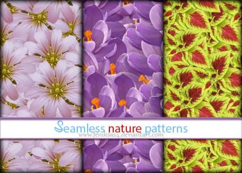 Seamless Nature Patterns by feniksas4