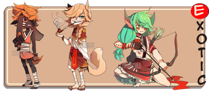 Exotic adoptables AUCTION-ENDED by Cate-adoptables
