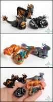 Miniature Dragons by PepperTreeArt