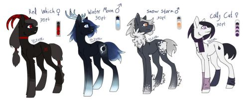 Insomnia Induced Pony Designs [0/4] -CLOSED- by Shatterd-Sky