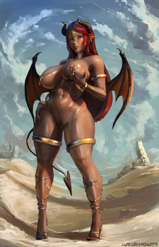 #295 desert succubus by cutesexyrobutts