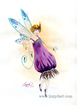 Plum Finch Fairy by Lizzy-D