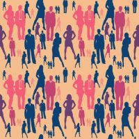 People Pattern - Punchy by amdillon