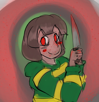 Chara doodle by Adrianator334