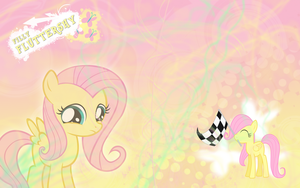 FiM: Filly Fluttershy WP by M24Designs