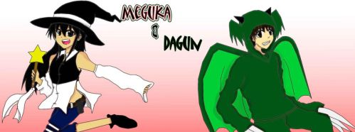 Meguka and Dagun[colored] by Mia-chan00
