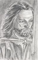 aceo, art trading card Aragorn Lord of the Rings by BethannNg