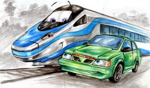 Pendolino and KOM by Ikarus-001