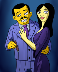 Custom portrait as simpson character by AnOddStore