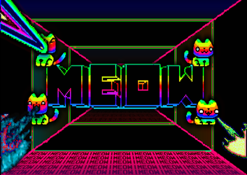 Pixel upgrade for one MEOW frame caused poster :3 by marderchen