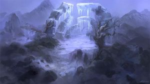 Concept-Ice Gorge by Ashramart