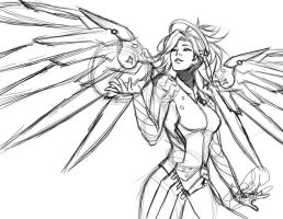 Mercy WIP Sketch by LightSilverstar