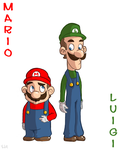The Brothers Mario by Draw-ist
