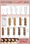 How to draw a realistic braid - tutorial (SAI) by maaya-art
