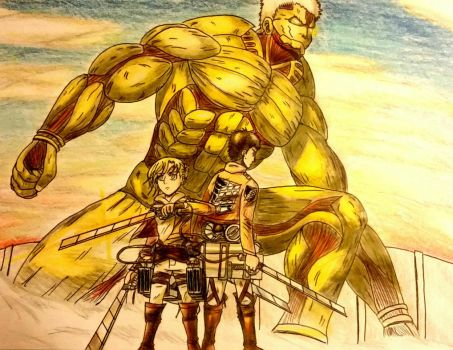 The Warriors- Attack on Titan  by artist-philmore