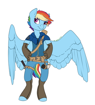 Rebellion AU- Rainbow Dash by Joan-Grace