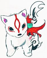 Okami Ammy Puppy by moonlit-roses
