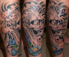 Skull by DarkSunTattoo