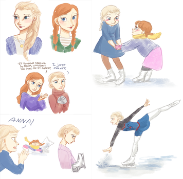 Frozen Figure Skating AU by maybelletea