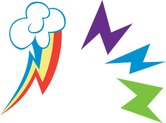 Rainbow Power Cutie Mark: Rainbow Dash by Serenawyr