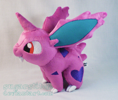Pokemon: Nidoran Male Plush Version Two by sugarstitch