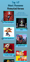 My Top 10 Most Awesome Animated Heroes by nikolas-213
