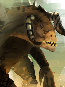 Quick Deathclaw by Meepars