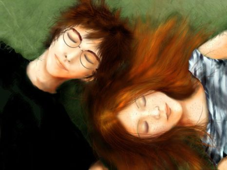 Ginny and Harry by miyavi