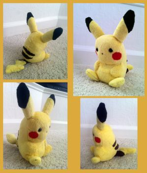Pokemon - Pikachu Plush by Dewheart85