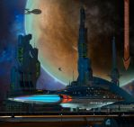Departure from Starbase 304 by RobCaswell