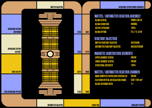 LCARS for Rainmeter Warp Core Analysis by Jefson