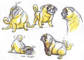 PUGS! -  Daily drawing 2 by SuperRetroBoy