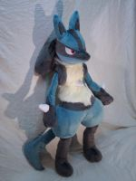 Lucario Plush by makeshiftwings30
