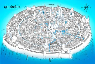 Gondolin in blue (more images in description) by Sirielle