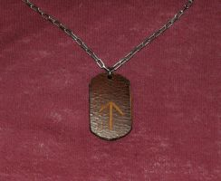 Leather Tywas Dogtag by Vikingjack